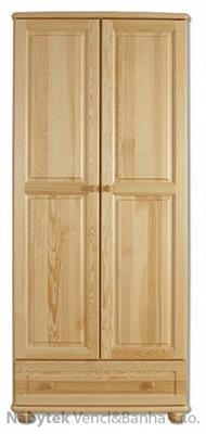 dřevěná šatní skříň z masivního dřeva borovice SF107 pacyg