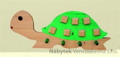 dekorace dětský věšák želva met 26502