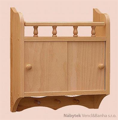 dřevěná závěsná polička z masivního dřeva borovice drewfilip 36