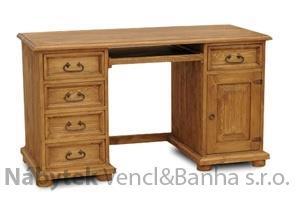dřevěný rustikální stylový PC stolek z masivního dřeva borovice Mexicana D37 euromeb