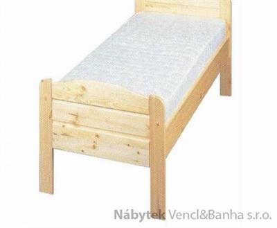 dřevěná dvojlůžková postel z masivního dřeva Sedan chalup