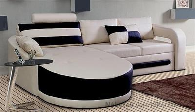 luxusní moderní rohová sedací rozkládací souprava Velvet mini chojm