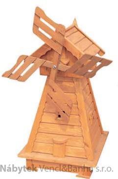 dřevěný zahradní dekorační větrný mlýn drewfilip 67 v170