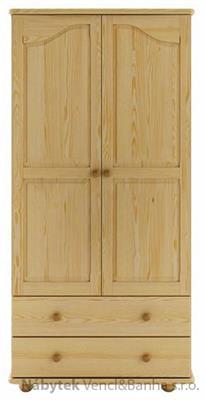 dřevěná šatní skříň z masivního dřeva borovice SF114 pacyg