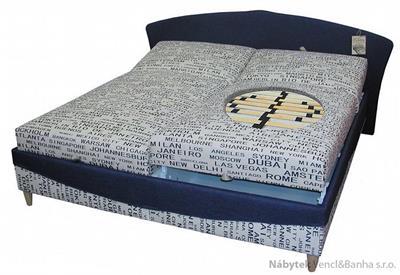 dvoulůžková čalouněná postel Hany Polach