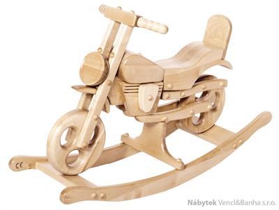 dětská dřevěná houpací hračka motorka Sport Motorbike přírodní elm