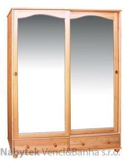 dřevěná šatní skříň dvou dvířková z masivního dřeva borovice drewfilip 3