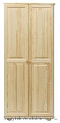 dřevěná šatní skříň z masivního dřeva borovice SF103 pacyg