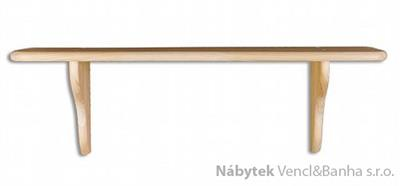 dřevěná závěsná polička z masivního dřeva borovice PK121 pacyg