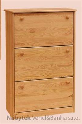 dřevěný botník z masivního dřeva borovice drewfilip 4