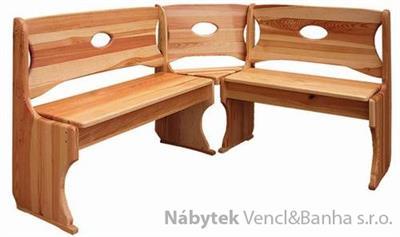 dřevěná rohová jídelní lavice z masivního dřeva borovice drewfilip 4