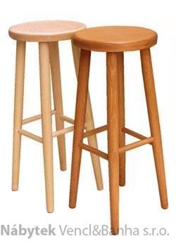 dřevěný barový jídelní taburet z masivního dřeva buk drewfil 2