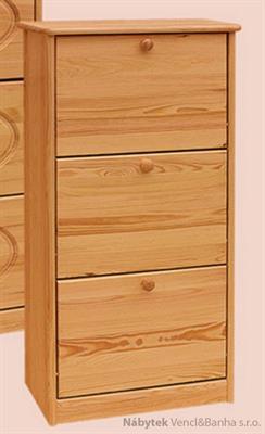 dřevěný botník z masivního dřeva borovice drewfilip 2 hladké