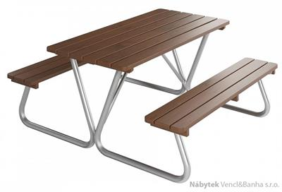 dřevěný zahradní nábytek Piknik Nevada 01 160x160 trim