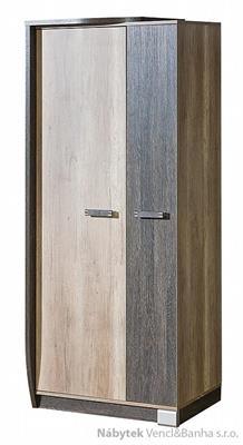moderní šatní skříň z dřevotřísky R1 L/P Romero dolm