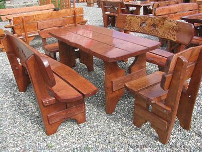 dřevěný zahradní nábytek vencl set 1+2+2 Řezba 2 botodre