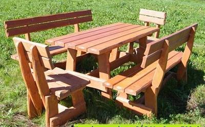 dřevěný zahradní nábytek set Goralski 1+2+2 drewbo