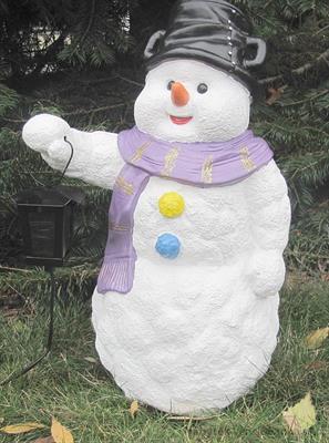 zahradní dekorace z polyesteru sněhulák Z13 welt