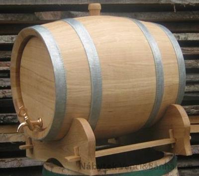 dubový soudek na alkohol 25 litrový