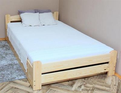 dřevěná dvojlůžková manželská postel s úložným prostorem Elegant chalup