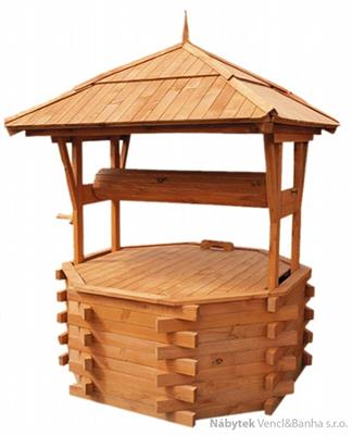 dřevěná zahradní dekorační studna STU7 pr.120 jandr