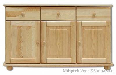 dřevěná kuchyňská skříňka dolní z masivního dřeva borovice KD138 pacyg