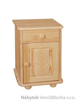 dřevěný noční stolek z masivního dřeva borovice z kolekce dřevořezba P1 drewfilip