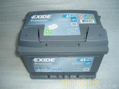 Autobaterie Exide Premium 12V, 61Ah, 600A