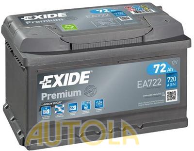 Autobaterie Exide Premium 12V, 72Ah, 730A