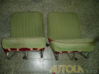 Přední a zadní sedadla Škoda Octavia 1959-1971