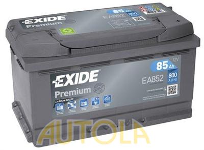 Autobaterie Exide Premium 12V, 85Ah, 800A