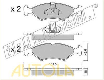 Brzdové destičky přední Ford Escort III,IV, Fiesta I,II,III,IV, Orion I,II, Puma, Sierra
