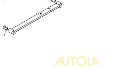 Pružina listová zadní Peugeot Boxer 94-06 10-18Q (dva listy)