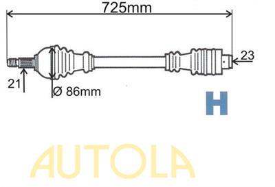 Poloosa prední pravá Renault 9,11