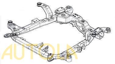 Rám pod motor (nápravnice) Opel Zafira A