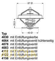 Termostat Peugeot 504, 505, 604